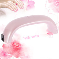 Wholesale many colors Portable W Nail lamp Curing Lamp Machine For UV Gel Nail Polish stock in US CA AU DE