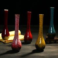 Wholesale chinese porcelain vases decoratives fambe minimalist classic oriental china vase table decoration christmas gift