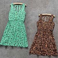 australian work - Summer Dress Australian Design Skater Dresses Hollow Out Sleeveless Print Dress For Women