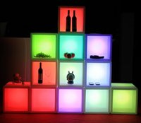 Wholesale 2014 New arrival Waterproof Led cabinet CMx40CMx40CM colorful changed Rechargeable cabinet bar kTV disco party decorations supply