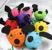 Wholesale MIC New Cute Useful Animal Dog With Black Noses Foldable Eco Reusable Shopping Bags Colors cm x37cm