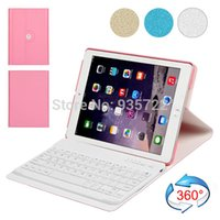 Wholesale LD Rotation Leather Case with Bluetooth Keyboard for iPad Air Air with Retail Package