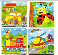 Wholesale 120pcs Wooden Kids Jigsaw toys Learning Puzzles toys Style randomly