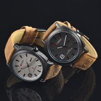 Wholesale 2015 China Made Curren Leather Wristwatch Outdoor Sport Waterproof Wrist Watches For Men Colors Available