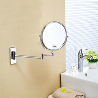 Wholesale Copper Bathroom Wall sided beauty Mirror bathroom Mirror telescopic folding Mirror magnifying Mirror