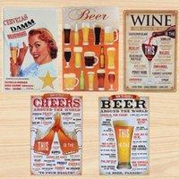 bar items - 2015 Vintage Beer Painting Item Tin Sign Metal Art Poster Decoration Retro Hot Bar Pub Home Wall Decor