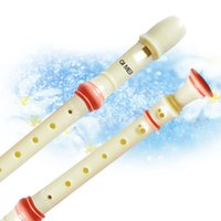 Wholesale Music Instrument Clarinet Holes Recorder Clarinet Transparent German Clarinet with Manual Cleaning Rod w White