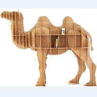 wood bookcase - Wood Great Camel Bookshelf Bookcase Bookshelf Nordic Style Model Room Animal Shapes Shaped Multi Purpose Furniture Bookcase Commodity Shelf