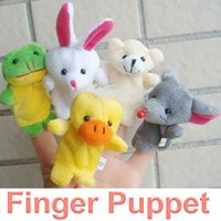 Wholesale 10Pcs Cartoon Animal Finger Puppet Finger Toy Finger Doll Baby Dolls Baby Toys Animal Doll FSWB