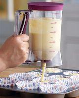 Wholesale 5pcs Baking Essentials Tool Cake dough Dispenser Cupcake Funnel batter Cream Separator Valve Measuring Cup Pancake Muffin