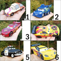 alloy motorcycles metal - 11CM Anime Cartoon Pixar Cars Sheriff Metal Diecast Toy Car Mcqueens Diecast Metal Alloy Modle Toys Car Toys For Children Gifts in stock