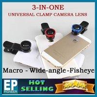 Wholesale LIEQI IN Universal Clip Camera telephoto lens Wide Angle Macro Fisheye Lens case for iphone PLUS Ipad Samsung HTC SONY LG