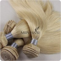 Wholesale 613 light blonde Virgin remy THICK A hair weave peruvian hair machine wefted g pc from MRS HAIR hot pomotion