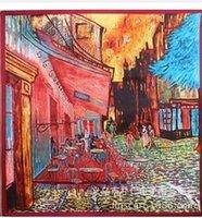 Wholesale cm Imitation silk scarves scarf Cafe Van Gogh painting