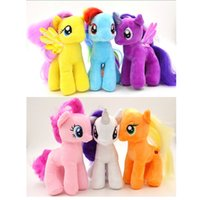 Wholesale 6 cm inch Kids My Little Pony Plush Doll Unicorn Horse Toys for Children Birthday Girls Christmas gifts SP042