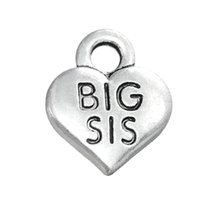 big easy accessories - New Fashion Easy to diy DIY Charm Engraved Alphabet BIG SIS Accessories Charm Jewelry jewelry making fit for necklace or