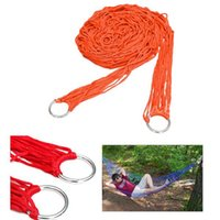 Cheap High Quality Hang Hanging Mesh Net Sleeping Bed Swing For Outdoor Camping Travel Orange Nylon Hammock 270x80cm