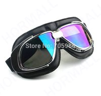 L motorcycle frame - STEAMPUNK MOTORCYCLE PILOT GOGGLES WITH CHROME FRAME TINTED LENS HELMET GOGGLES CRG GLASSES MOTOR GLASSES MOTOCROSS MX EYEWEAR