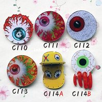 Wholesale 10 different style MIXorder accepted promotipn new hotsale cool popular eyeball brooch pins drop shipping C110 C114