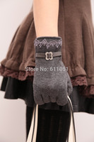 Wholesale 10 pairs a Fashion for Touchscreen Women Ladies Warm Weaved Knit Wrist Gloves Mittens