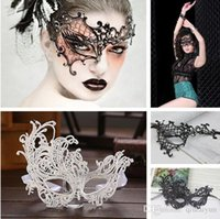 Wholesale MORE styles Masquerade Halloween Christmas Party Bar Exquisite Lace Half Face Lady women phoenix Mask Fashion Sexy mask B283