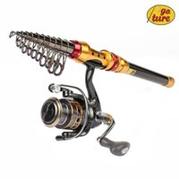 Wholesale Goture Portable Telescopic Spinning Fishing Rod with Reel Combos Carbon Fiber Generic GA3000 BearingsSpinning Fishing Reel