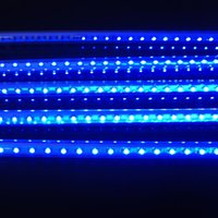 Wholesale blue red yellow green cool white each tubes CM set led Meteor Shower Rain Light V holiday outdoor Decor
