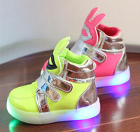 Wholesale Autumn Winter Warm Children Shoes With Light Candy Color Led Shoes kids Sneakers Boys Girls Chaussure Enfant