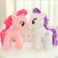 horse doll - 2015 Children Girls My Little Pony Plush Stuff Animal Toys Kids Girl Cartoon Horse Stuffed Animals Plus Toy Horses Dolls Animals Doll D3751