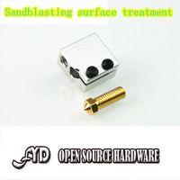 aluminum extrusion accessories - 3D printer accessories E3D fast nozzle kit Volvano hot end of extrusion head kit heated aluminum block nozzle