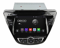 Wholesale Quad Core Android HD din quot Car Radio Car DVD GPS for Hyundai Elantra With G WIFI Bluetooth IPOD TV USB AUX IN