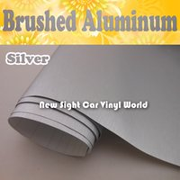 vinyl roll - High Quality Brushed Silver Vinyl Film For Vehicle Wraps Air Free Channels Size M Roll