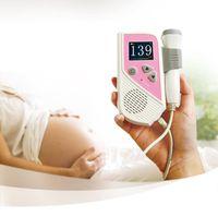 Wholesale Fetal Doppler MHz Probe LCD Ultrasound Prenatal Detector Fetal Baby Heart Rate Monitor