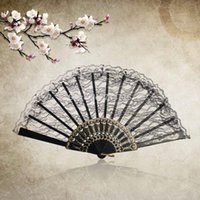 Wholesale 1pcs Chinese Vintage Fancy Dress Costume Party Wedding Dancing Folding Lace Hand Fan