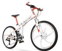 folding bike - 26 inch speed folding bike oil Singles aluminum one lockable wheel folding bike Fork