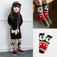 mouse animal - 2015 Korean Baby Socks Cartoon infant Socks Lovely Stripe Mickey Baby socks Bunny kids knee high socks Cute Mouse childrens Socks A4726