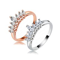 Wholesale Fashion Show Design High Quality Copper Ring K Rose Gold Platinum Plated SWA Elements Austrian Crystal Ladies Rings RIC0003
