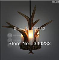 antler pipe - Dia cm Retro resin antler pendant lights suspension lighting Factory Price