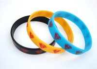 silicone bracelet - blue black yellow Superman Silicone Bracelets for party Wristbands Jewelry Mix color