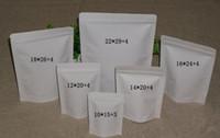 bean tea - 50x stand up zipper white kraft paper bag mylar bags for rice tea coffee bean can print custom logo cm