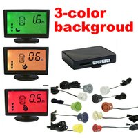 background alarm - Car Stage Background Color Alarm LCD Monitor Backup Reversing Aid Parking Sensor System Easy to install