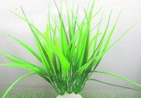 Wholesale pc cm green artificial plastic grass aquarium fish tank decorative fake water plants