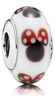 Cheap 5pcs 925 Sterling Silver Classic Minnie Murano Glass Beads Fit Pandora Charm Jewelry Bracelets & Necklaces SZ119