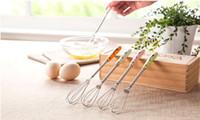 Wholesale New Stylish compact manual Ceramic cartoon handle Whisk Kitchen cake baking mixer Coffee muddler Multi style