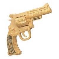 Wholesale 3D three dimensional Wooden Uzi pistol Model Three Dimensional Puzzle CS Military Children s Educational Puzzle Toys