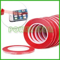 Wholesale Red M Sticky Double Sided mm Super Adhesive Tape For CellPhone iphone s Samsung HTC LG Mobile Phones Touch Screen LCD Cover
