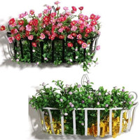 Wholesale Wholesales Continental Iron Flower Baskets Hanging Basket Pots Flowerpot Shelf Home Decoration Wall Plants Shelf JC0109 Salebags