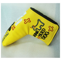 Wholesale New Hot JUNK YARD DOG Golf HeadCover High Quality PU Golf Clubs Putter Cover in Blue Red Yellow colors Golf equipment