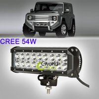 Cheap Free Shipping 2PCS 9 Inch 54W CREE LED Work Light Bar Auto 4WD SUV 4X4 ATV Truck Military Spot Beam Off Road Bumper Driving Lamp
