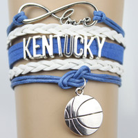 basketball team gifts - Top Quality Infinity Love KENTUCKY basketball Team Bracelet blue white Customized Wristband friendship Bracelets